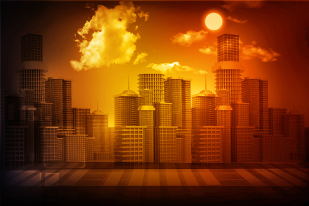 real business: urban city with sky Stock Photo
