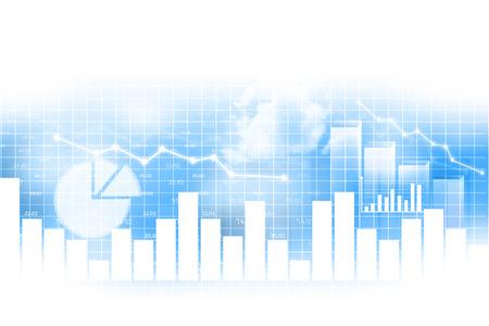 Stock market chart, financial background
