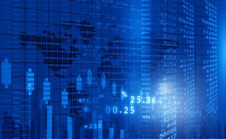 corporate building: Stock market chart