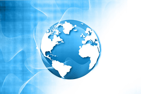 fiber: Globalization of fiber optics , Hi-tech technological background Stock Photo