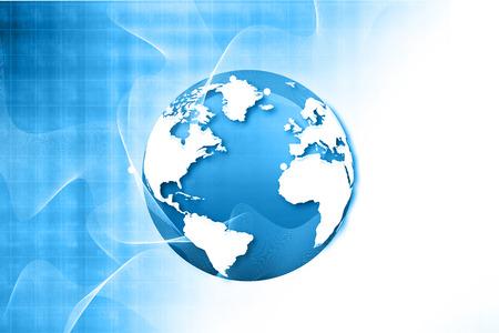 Globalization of fiber optics , Hi-tech technological background Banco de Imagens