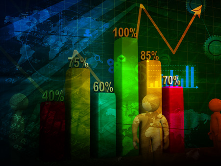 nasdaq: Stock market chart, financial background