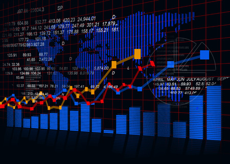 stock illustration: Stock market chart, financial background