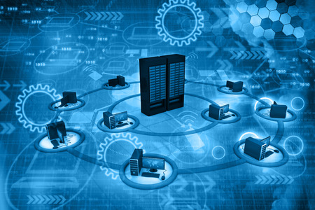 Réseau de Cloud computing, abstrait