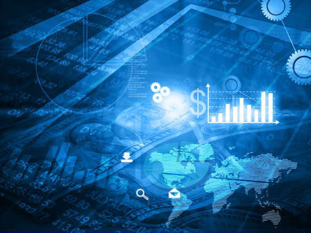 nasdaq: Financial background concept