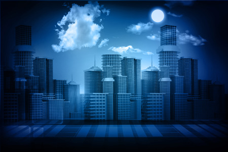 townscape: urban city with sky Stock Photo