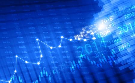 Börsen-Chart Standard-Bild - 41806469