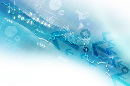 Börsen-Chart Standard-Bild - 41806475