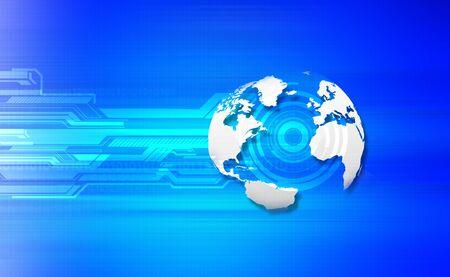 shin: 3d render of tech globe Stock Photo