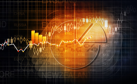 increases: Stock market chart background