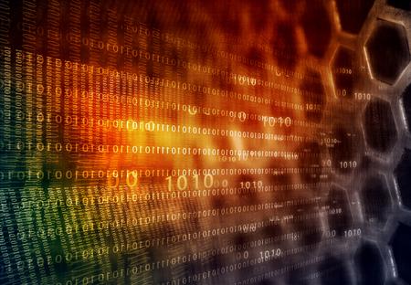 info tech: Hi-tech technological background