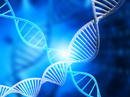 genomes: DNA molecules on digital background