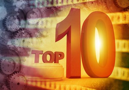 numero diez: Top ten, el fondo de medios