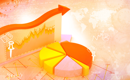 financial graphs: Financial graphs and charts shows business growth, background image Stock Photo