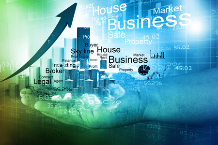 real estate growth: Real estate business growth background