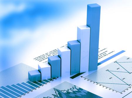 nasdaq: Stock Market Graph and business Bar Chart