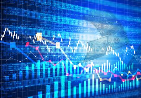 stock chart: Stock market chart background