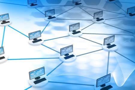 Réseau informatique et technologie de l'Internet Banque d'images - 47357847