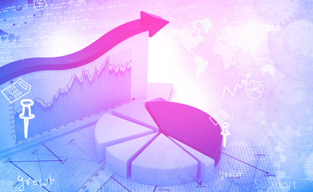 abstract business: Financial graphs and charts shows business growth, background image Stock Photo