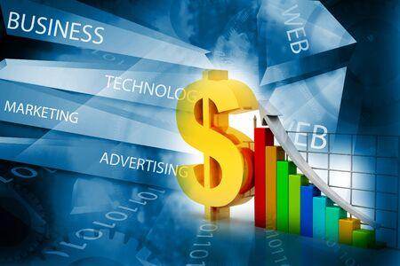 company growth: Financial graphs and charts shows business growth, background image Stock Photo
