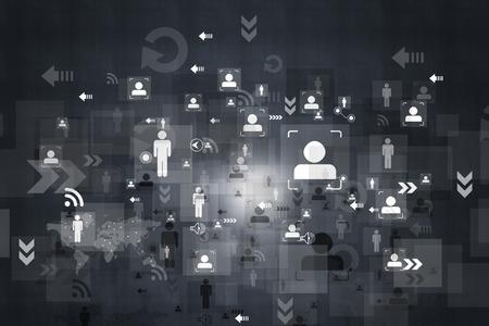 Business networking background Archivio Fotografico