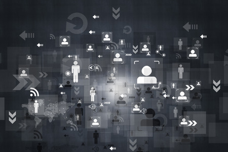 Business networking background Stockfoto