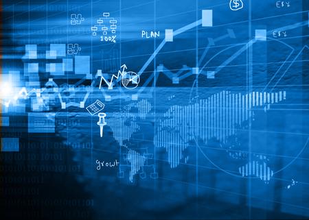 stocks: Stock market chart background