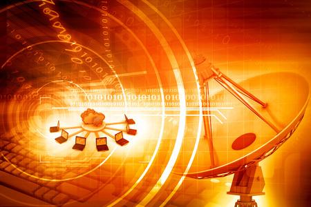 Informatie Technologie achtergrond Stockfoto - 47358040