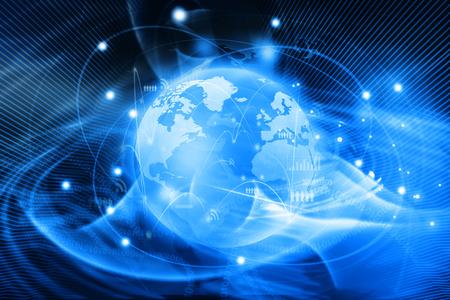 Futuristiska bakgrund av global affärsnätverk, Internet, Globalisering koncept
