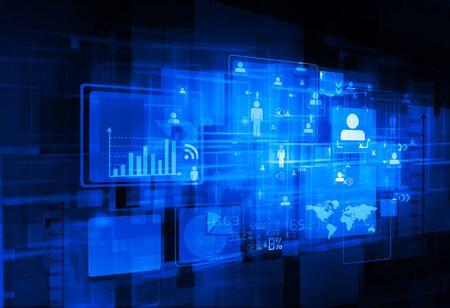 digital background: Business networking digital background