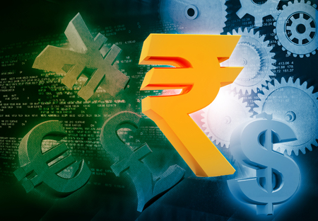 rupee: International currencies and gears , industrial production make money