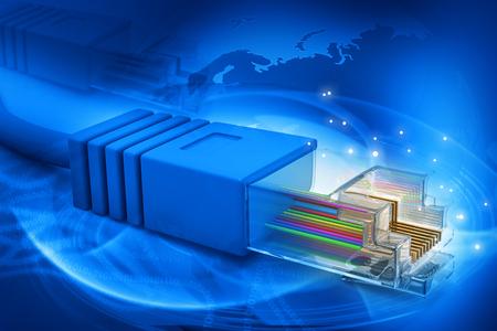 enchufe: Red de fondo de tecnología de cable