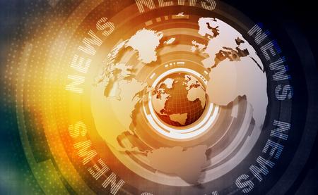 Wörter Nachrichten auf digitalen gelben Hintergrund Lizenzfreie Bilder