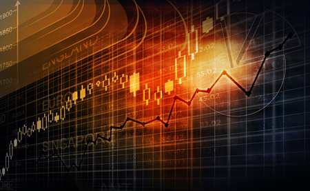 stock graph: Stock market chart