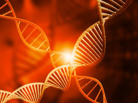 genomes: DNA molecules on digital background