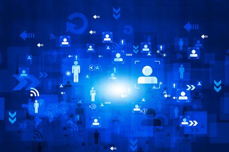 telecommunications technology: Business networking background Stock Photo