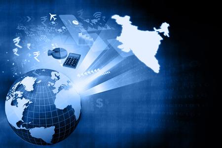 economía: Crecimiento financiero de la econom�a de la India