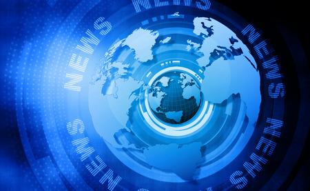 Wörter Nachrichten auf digitalen blauen Hintergrund Lizenzfreie Bilder