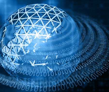 global communication: Global Communication , digital world and binary cods