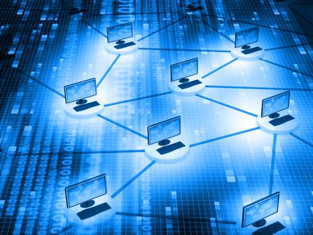 Concepto de comunicación de internet y red informática Foto de archivo - 47359017