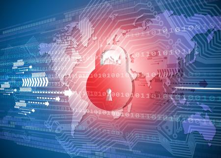 글로벌 사이버 보안 개념 스톡 콘텐츠 - 48242956