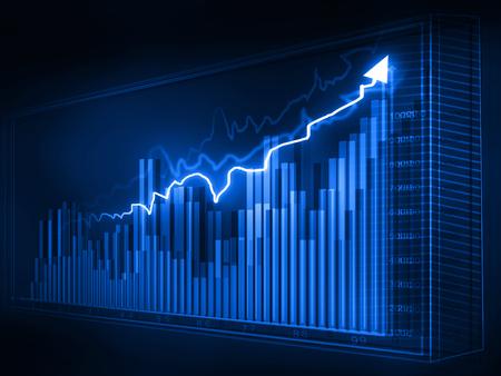 graphiques boursiers, business chart