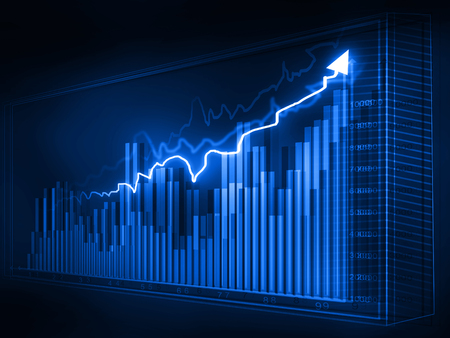 stock price: Stock market graphs, business chart