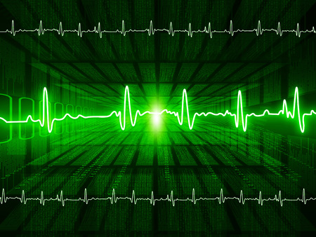 diminishing perspective: ECG Electrocardiography, medical and healthcare background Stock Photo
