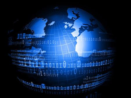 Digital world, Hi-tech technological background Foto de archivo