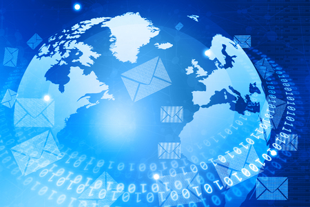 email: Digital World with email  distribution