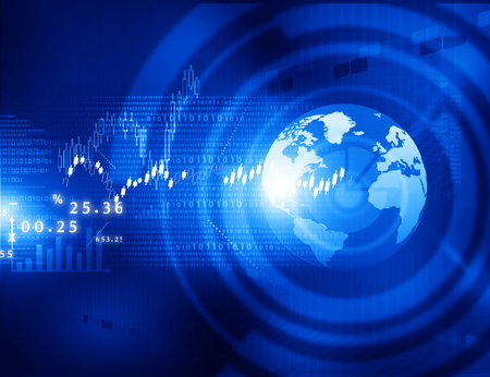 economical: Stock market graphs, business chart  with tech world