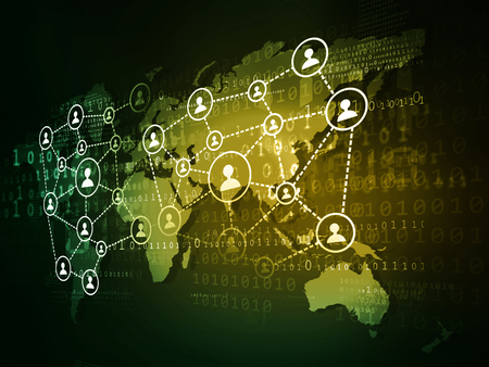 글로벌 비즈니스 네트워크의 개념 스톡 콘텐츠