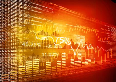 Beurs grafieken, zakelijke grafiek Stockfoto
