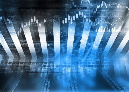 stock: Stock market graphs, business chart